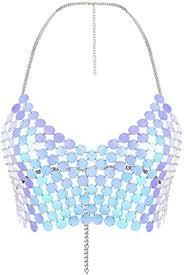 Diamond Body Chain Personality Round <b>Handmade Simple</b> Body ...