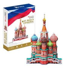 Объемный 3D пазл <b>CUBICFUN Собор Василия</b> Блаженного ...