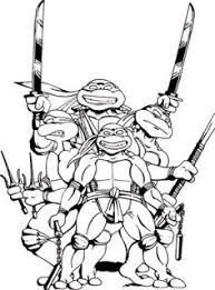 Small Picture Teenage Mutant Ninja Turtles in Characters Coloring Page Free