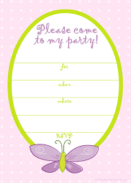 printable girl birthday invitation templates