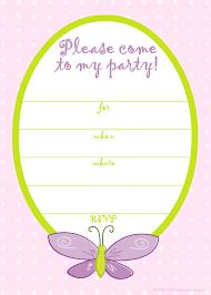 printable girl birthday invitation templates