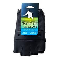 HANDS ON - FL2250-M, <b>Genuine</b> Grain <b>Leather Half Finger</b> Glove ...