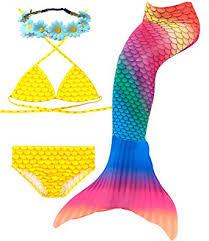 Camlinbo 3PCS Mermaid Tail for Girls Swimsuit ... - Amazon.com