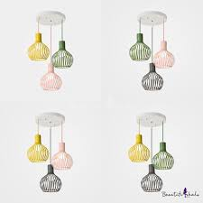 Balcony Wire <b>Frame</b> Suspension Light Metal 3 <b>Lights Nordic</b> Style ...