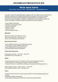 kindergarten teacher resume sample   resume writing servicekindergarten teacher resume sample