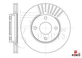 6575.10 <b>Диск тормозной передний FORD</b> Focus 98-05, Fusion 01 ...