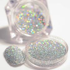 <b>2g</b>/<b>Box Nail</b> Glitter Dust Powder <b>Holographic Laser</b> Gorgeous Silver ...