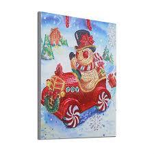 Homeholiday DIY <b>Cartoon Christmas Snowman</b> Car Resin ...