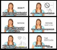 Tall Girl Code | Funny Pictures, Quotes, Memes, Jokes via Relatably.com