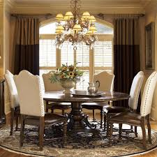 Pedestal Dining Table Seville Marquetry Expandable Round Pedestal Dining Table Zin Home