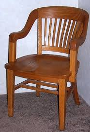refinished quarter sawn oak office chair antique wood office chair