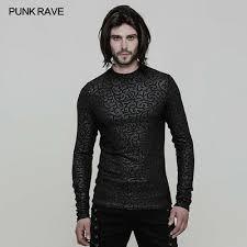 Punk Rave <b>Men's top</b> Gothic Printing Rock <b>Cool Personality</b> T-shirt ...