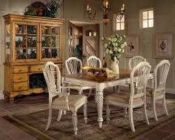 hillsdale wilshire 7 piece rectangle 73x44 dining room set in antique white buy dining room table