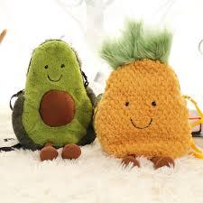 INS Popular Avocado Pineapple <b>Cute Plush</b> Sling Bag <b>Fashion</b> ...