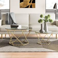 Modern & Contemporary <b>2 Piece Coffee</b> Table Set | AllModern