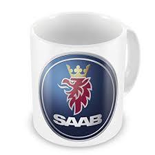 <b>SAAB</b> Car Manufacturer Coffee / Tea Mug: Amazon.co.uk: Kitchen ...