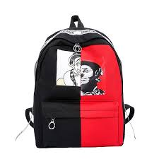 <b>Graffiti</b> Printing <b>Backpack</b> Canvas Women Men <b>Rucksack</b> School ...