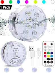 Qoolife Rechargeable Underwater Led Lights- 3.3 ... - Amazon.com
