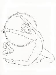 Gymnastics Coloring Sheets Gymnastics Coloring Pages For Girls Page