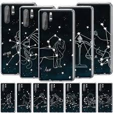 12 Constellations <b>Zodiac</b> Signs <b>Silicone Case for</b> Huawei P Smart ...