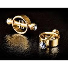 <b>Золотистые зажимы</b> на <b>соски</b> на магните Magnetic Clamps - секс ...