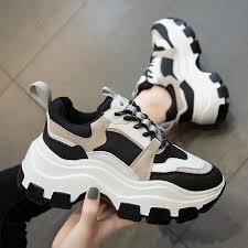 <b>Women</b> Chunky Sneakers <b>Vulcanize</b> Shoes Korean Fashion ...
