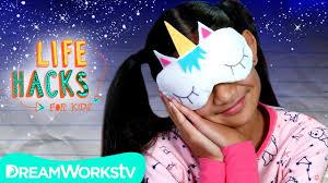 <b>Unicorn Sleeping Mask</b> + More Bedtime Hacks | LIFE HACKS FOR ...