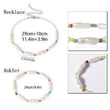 IngeSight.Z <b>Bohemian Imitation Pearl</b> Choker Necklace Collar for ...