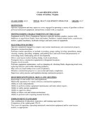heavy equipment operator samples for heavy equipment operator sample resume heavy equipment operator