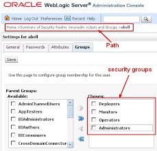 3 security groups obiee administration