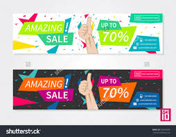 vector promotion banner amazing business stock vector vector promotion banner amazing business horizontal flyer template