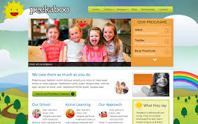 child care website fold solutions childcare website template option 2