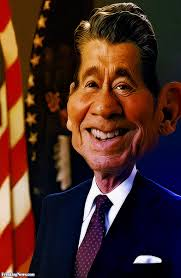 tabs on the man who helped crush the USSR, President <b>Ronald Reagan</b> - Ronald-Reagan-Caricature--90176