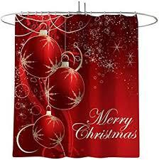 Shan-S 4Pcs Shower Curtain Sets Merry Christmas ... - Amazon.com