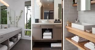 open bathroom vanity cabinet:  examples of bathroom vanities that have open shelving