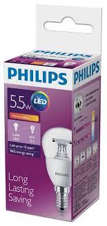 <b>Лампа светодиодная</b> Philips <b>LED</b> 2700K, E14, <b>P45</b>, 5.5Вт купить ...