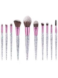 Buy Start Makers <b>10Pcs Makeup Brush</b> Sets Sequined Pattern ...