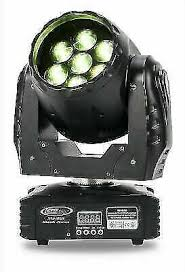Eliminator Lighting Stealth Wash Zoom <b>7x12W</b> DMX RGB LED ...