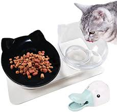 Legendog <b>Cat Bowls</b>, Cat Food Bowls <b>Cat Bowls</b> Tilted/<b>Double</b> Cat ...