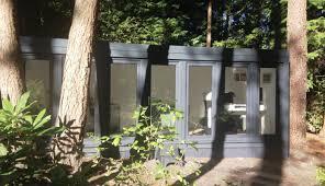 16 x 8 4880mm x 2440mm qcb garden office in a forest big garden office ian