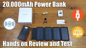 THE BEST <b>POWER</b> BANK with 20000mAh and <b>Detachable Solar</b> ...