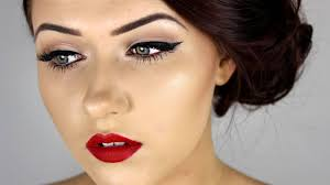 pin up inspired make up tutorial beautiful 1950s