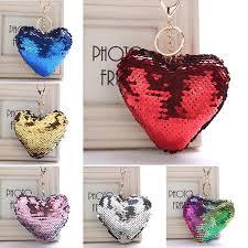 <b>1Pcs</b> Accessories Sequins Pendant Keychain <b>Heart</b> HandBag ...