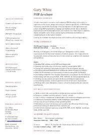 copywriter CV template sample - Dayjob PHP developer CV sample - Dayjob