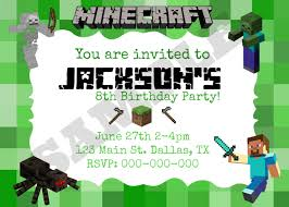 minecraft party invitations template com minecraft party invitations templates cloudinvitation