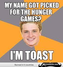Advice Peeta: my name got picked for the hunger games?... - Meme ... via Relatably.com