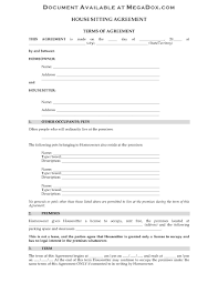 house sitting agreement legal forms and business picture of house sitting agreement