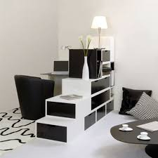 simple room clean lines touch of black elements black and white contemporary design minimalist space yet black white interior design