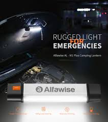 <b>Alfawise</b> AL - M1 Plus Magnetic LED Camping Lantern For $26.99