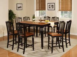 black wood dining room table